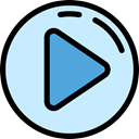 video player, Seo And Web, Play button, interface, Arrows, play, Multimedia, music player, movie, Multimedia Option PaleTurquoise icon