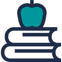 study, Book, Stacks, Books, Apple, stacked, education, Educative, stack DarkSlateGray icon