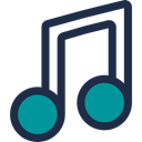 music, Quaver, music player, musical note, song DarkSlateGray icon