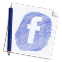 paper, pencil, hand drawn, Page, Social, network, colour pencil, media, Facebook, hand-drawn, Color pencil LightSteelBlue icon
