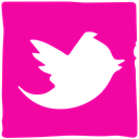 media, Pen, twitter, Social, Ink DeepPink icon