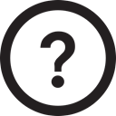 Circle, question Black icon