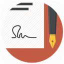 document, paper, contract, Agreement, Pen, sign signature Snow icon
