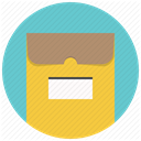 envelope, package, Folder, mail, File, office SandyBrown icon