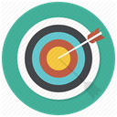 Arrrow, bullseye, Goal, dart, Target, Center, shooting Icon