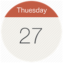 Calendar, thuesday, Month, date, Schedule, day, event Linen icon