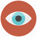 visible, vision, Visibility, Eye, watch, watching, look IndianRed icon