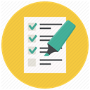test, Checklist, document, list, Form, report, Highlighter SandyBrown icon