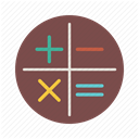 calculate, math, Minus, school, plus, calculator, Calc DimGray icon