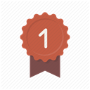 Ribbon, Best, award, Badge, Achievement, First, medal DimGray icon