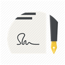 contract, Pen, document, paper, Agreement, sign, Signature DimGray icon