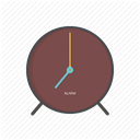 hour, morning, Alarm, time, Clock, alarm clock, watch DimGray icon