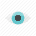 watching, vision, visible, look, watch, Eye, Visibility DimGray icon