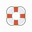 lifebuoy, Info, Lifesaver, Faq, support, help, about DimGray icon