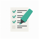 test, Form, document, report, Checklist, Highlighter, list DimGray icon