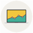 Bar, graph, statistics, Macbook, report, Analytics, Diagram, chart Linen icon