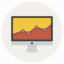 Analytics, report, Sales, statistics, Analysis, Diagram, graph Linen icon