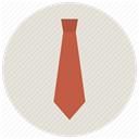 Business, necktie, office, Tie Gainsboro icon