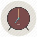 Clock, morning, Alarm, office, time Gainsboro icon