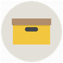 package, office, Archive, Box, Archieve, Folder, File Gainsboro icon