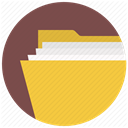 document, breafcase, File, folio, Directory, Folder, brief DimGray icon