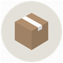 office, Delivery, gift, shopping, Box, package, product Gainsboro icon