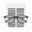 Page, document, editor, Edit, Glasses, Correction, File DimGray icon