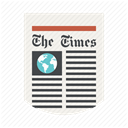 Print, the times, News, media, Newspaper, press, newsletter DimGray icon