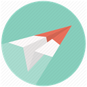 send, mail, airplane, paper plane, Plane, Email, Message MediumAquamarine icon