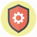 shield, Safe, security, safety, protect, settings, Guard PaleGoldenrod icon
