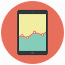 report, Analytics, graph, statistics, Diagram, Sales, ipad Coral icon