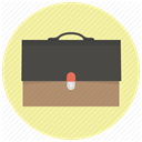 Bag, case, Business, baggage, brief, Briefcase, career PaleGoldenrod icon