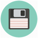 download, save, Diskette, disc, Data, Floppy, backup MediumAquamarine icon