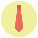 Clothes, Accessory, Tie, office, clothing, Business, necktie PaleGoldenrod icon