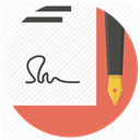 Pen, Signature, Agreement, document, sign, paper, contract Snow icon