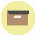 Box, Folder, package, File, Archive, office, Archieve PaleGoldenrod icon
