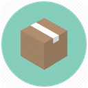 Delivery, package, shopping, product, Box, gift, office MediumAquamarine icon