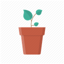 pot, eco, Tree, leaves, plant, Flower, grow DimGray icon