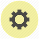 system, settings, configuration, preferences, config, Gear, tool PaleGoldenrod icon