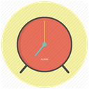 morning, watch, alarm clock, Alarm, Clock, timer, time PaleGoldenrod icon