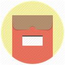 package, office, File, envelope, Folder, documents, mail PaleGoldenrod icon
