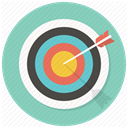 Target, Center, shooting, bullseye, Arrrow, Goal, dart MediumAquamarine icon