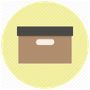 Folder, package, Archive, Box, Archieve, office, files PaleGoldenrod icon