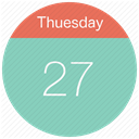 Calendar, date, day, event, Month, thuesday, Schedule MediumAquamarine icon