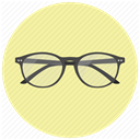 glass, Glasses, read, Accessory, reading, ray ban, hipster PaleGoldenrod icon