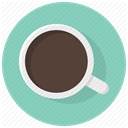 drink, cup, Coffe, Pause, beverage, Coffee, coffee break MediumAquamarine icon