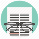 Text, read, Page, Data, File, document, Glasses Icon