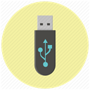 storage, Flash, Data, memory, usb stick, Device, Usb PaleGoldenrod icon