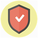 Guard, shield, protect, Protection, safety, secure, security PaleGoldenrod icon