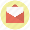 mail, Letter, document, send, Email, envelope, Message PaleGoldenrod icon
